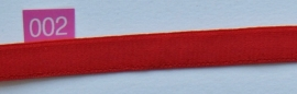 Elastiek rood 12 mm breed.