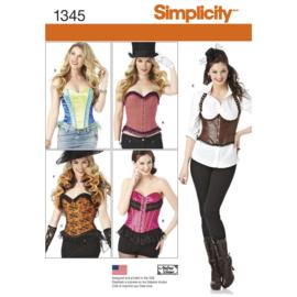 Patroon Simplicity 1345 (maat 32 t/m 40)