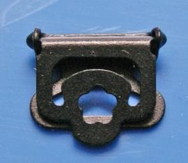 Klip zwart metaal 12 mm (set 4 stuks)