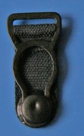Kousenhouders zwart metaal 12 mm (set 4 stuks)