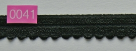 omvouw elastiek zwart met picot aan de rand.