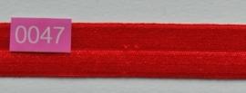 omvouw elastiek rood satijn.