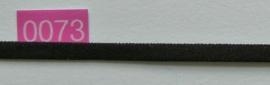 Zwart elastiek band 5 mm breed