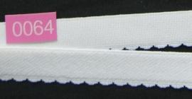Wit picot elastiek 15 mm breed