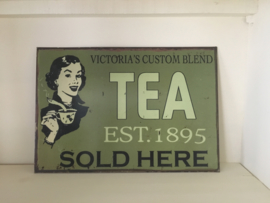 Reclamebord tea 1.