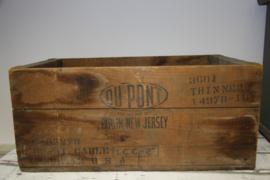 Kist van hout.