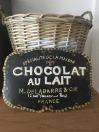 Reclamebord Chocolat