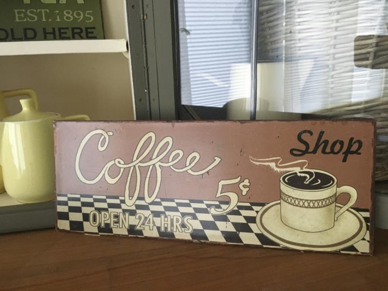 Reclamebord Coffee 1.