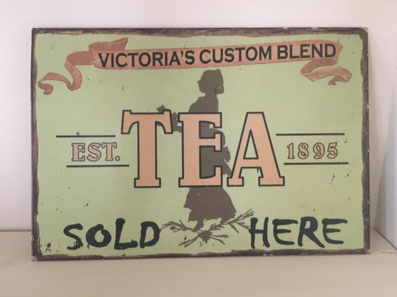 Reclamebord Tea. 2