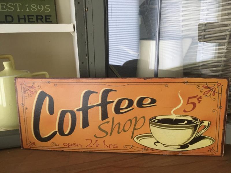 Reclamebord Coffee 2