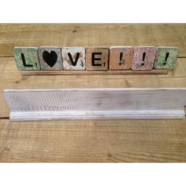 Plankje 40 cm/ 7 letters