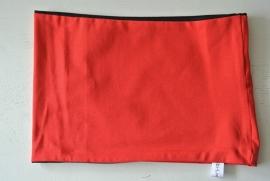 Effen col rood/ zwart nr 035