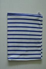 Blauw/ wit streep nr 48