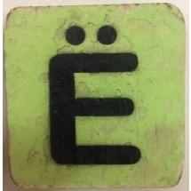 Vintage scrabble E umlaut 6x6