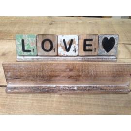 Plankje 30 cm/ 5 letters