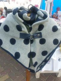 Sjaal blauwe/ grijs stip