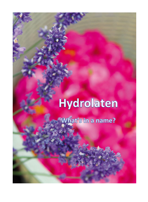 Brochure - Hydrolaten, What's in a name?