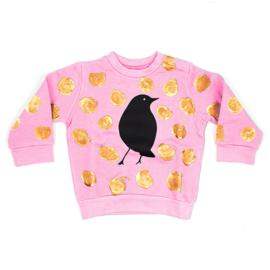 babysweater metallic stippen roze