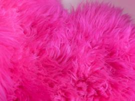 Roze zachte vacht - 100 CM