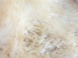 Wit gemeleerde kleuraccenten creme vacht - 105 CM
