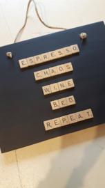 Decoratiebord espresso.....