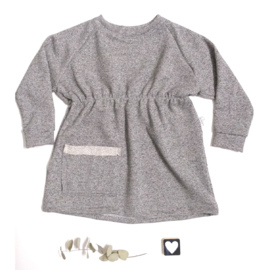 M-Dress grijs gemerleerde sweater stof