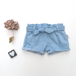 Short centuur denim
