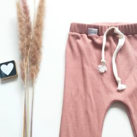 Legging/Broekje  rib pink clay