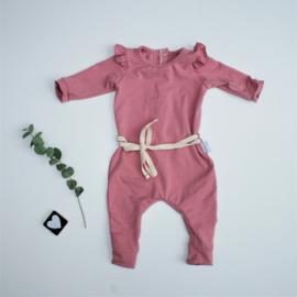 Onesie ruffels Old pink