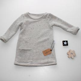 A-lijn sweaterstof spikkelstof