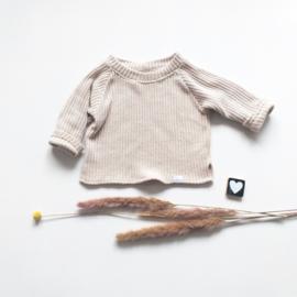 Trui big knit creme