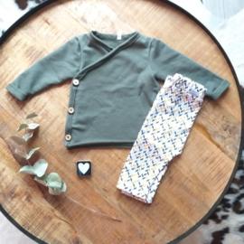 Wikkel trui French Terry kleur keus
