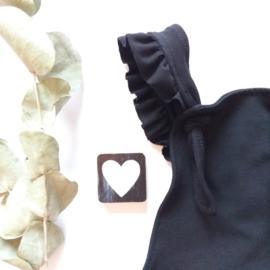 Ruffel Salopette zwart