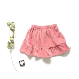 Skirt corderoy ruffel rand