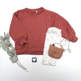 Sweater pof mouw French Terry kleur keus