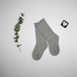 Knie kousen grey