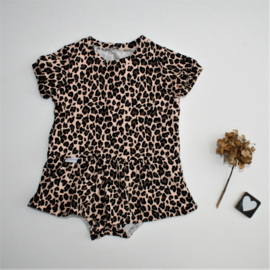 Bodysuit  skirt luipaard