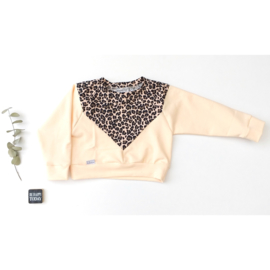 Isa sweater Luipaard tender peach