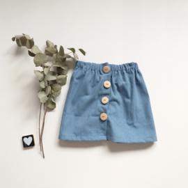 Jeans skirt knopen