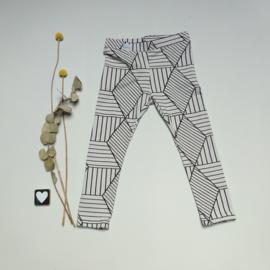 Legging/Broekje grafisch licht grijs
