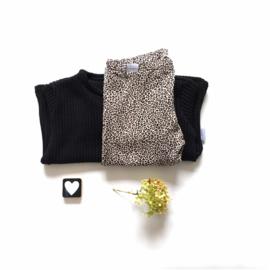 Wijde trui gebreide stof zwart