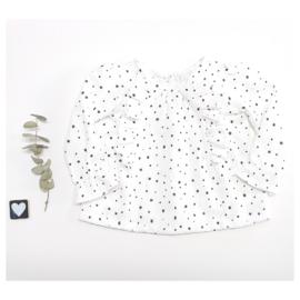 Hydrofiel top wit met dots