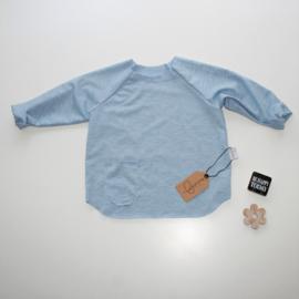 T-shirt blauw gemerleerd