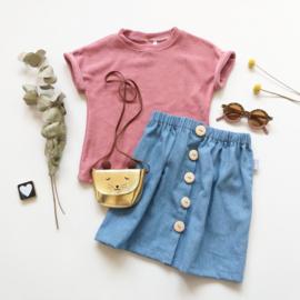 T-shirt badstof kleurkeus