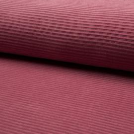 Jersey corduroy oud roze