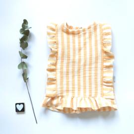 Katoenen peplum topje ruffels back&front stof keuze