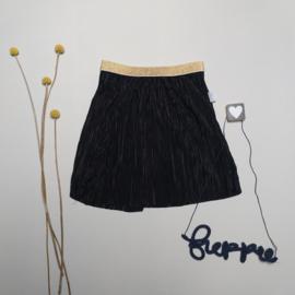 Midi rok plisé zwart