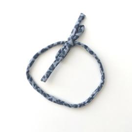 Dun Haarbandje panter blauw