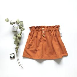 PaperBag Skirt met knoopjes   stof keuze