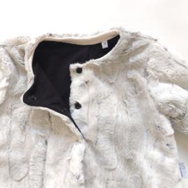 Gevoerd kort jasje  imitatie bont